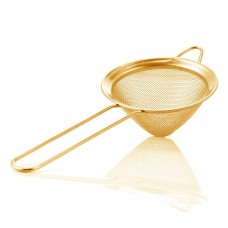 Colador Malla Fino Semi Cónico Luxury Dorado
