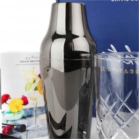 Coctelera Luxury Francesa 600ml 2 Piezas Negra