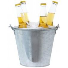 Hielera Tipo Balde Cerveza 6lts Galvanizado