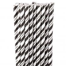 Pitillo Papel 5 mm Negro y Blanco Bolsa x 96un