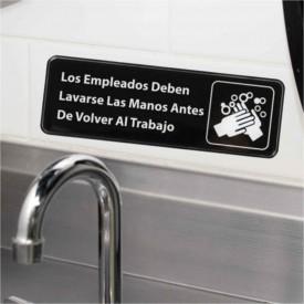 Señalización Bar: Empleados Lavar Manos