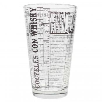 Boston Shaker 3 Piezas Con Vaso Recetas Whisky