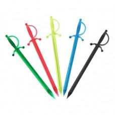 Palillo Plástico Para Aceituna Espada Colores Bolsa 500unds