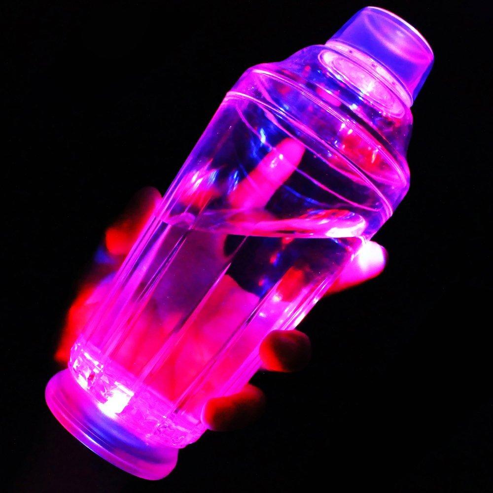 Coctelera Pástica Luces LED